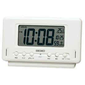 セイコー SEIKO 目覚まし時計 白パール SQ796W [デジタル /電波自動受信機能有]