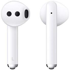 HUAWEI ファーウェイ フルワイヤレスイヤホン FREEBUDS3WHITE セラミックホワイト [マイク対応 /ワイヤレス(左右分離) /Bluetooth /ノイズキャンセリング対応][FREEBUDS3WHITE]