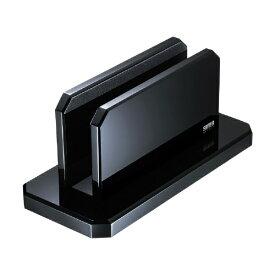 サンワサプライ SANWA SUPPLY ノートパソコンスタンド[厚み 〜25mm] アクリル 縦置きタイプ PDA-STN32BK ブラック[PDASTN32BK]