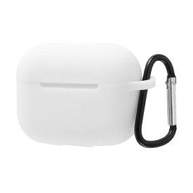 イングレム Ingrem AirPods Pro シリコンケース ノーダスト カラビナ付き/ホワイト ホワイト IS-APPC1/W