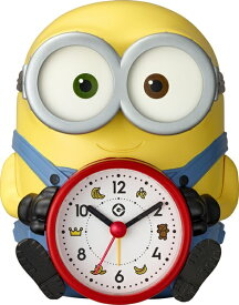 リズム時計 RHYTHM おしゃべり目覚まし時計 ミニオンズ 黄 4REA30ME33 [アナログ]