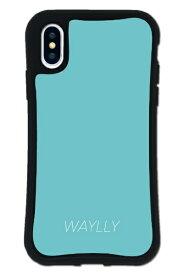 ケースオクロック iPhoneX/XS WAYLLY-MK セット ドレッサー スモールロゴ ミントブルー mksl-set-x-mbl