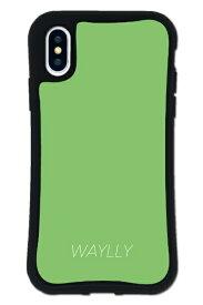 ケースオクロック iPhoneX/XS WAYLLY-MK セット ドレッサー スモールロゴ グリーン mksl-set-x-gre