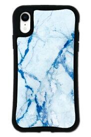 ケースオクロック iPhoneXR WAYLLY-MK セット ドレッサー 大理石 ブルー mkdrs-set-xr-blu