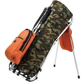 ミズノ キャディバッグ 木の庄帆布 フレームウォーカー(9.5型/オレンジ カモフラ柄)5LJC201000