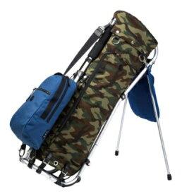 ミズノ キャディバッグ 木の庄帆布 フレームウォーカー(9.5型/ブルー カモフラ柄)5LJC201000 22