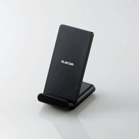 エレコム ELECOM Qi規格対応ワイヤレス充電器 スタンドQi 5W 2枚コイル ブラック W-QS05BK[WQS05BK]