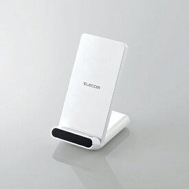 エレコム ELECOM Qi規格対応ワイヤレス充電器 スタンドQi 5W 2枚コイル ホワイト W-QS05WH [ワイヤレスのみ][WQS05WH]