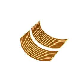 バイクパーツセンター BIKE PARTS CENTER 901824 17インチ用リムステッカー オレンジ