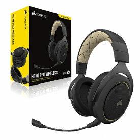 CORSAIR コルセア CA-9011210-AP ゲーミングヘッドセット HS70 PRO Wireless cream クリーム [ワイヤレス(USB) /両耳 /ヘッドバンドタイプ][CA9011210AP]