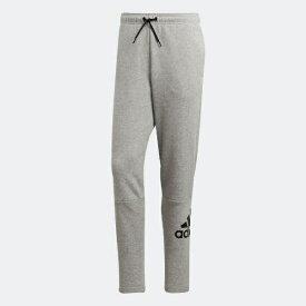 アディダス adidas メンズ パンツ マストハブ バッジ オブ スポーツ フリースパンツ(Oサイズ/ミディアムグレイヘザー×ブラック) FSD51