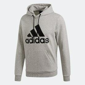 アディダス adidas メンズ マストハブ バッジ オブ スポーツ フリースプルオーバー(Oサイズ/ミディアムグレイヘザー×ブラック) FSD57