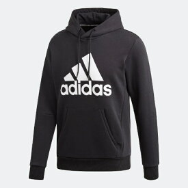 アディダス adidas メンズ マストハブ バッジ オブ スポーツ フリースプルオーバー(Mサイズ/ブラック×ホワイト) FSD57