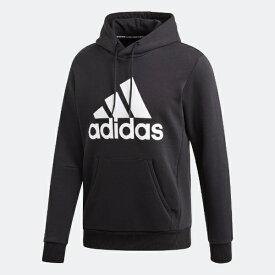 アディダス adidas メンズ マストハブ バッジ オブ スポーツ フリースプルオーバー(Oサイズ/ブラック×ホワイト) FSD57