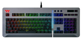 THERMALTAKE サーマルテイク KB-LVT-BLSRJP-01 ゲーミングキーボード TT PREMIUM GAMING LEVEL 20 RGB TITANIUM Cherry MX Blue チタニウム [USB /有線][KBLVTBLSRJP01]