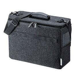 サンワサプライ SANWA SUPPLY ノートパソコン対応[〜13.3インチ] テレワークBOXバッグ BAG-TW1BK-BG ブラック / 内装 ベージュ[BAGTW1BKBG]
