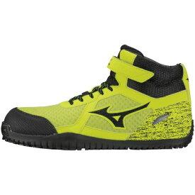 ミズノ mizuno 25.5cm メンズ 安全靴 オールマイティSD13H(イエロー×ブラック×イエロー) F1GA1905JSAA・普通作業用(A種)認定品 耐滑 プロテクティブスニーカー】