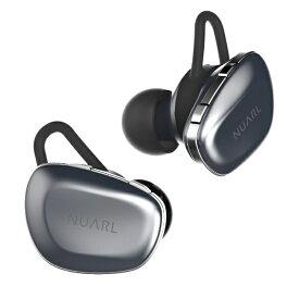 NUARL ヌアール フルワイヤレスイヤホン N6-SV シルバー [リモコン・マイク対応 /ワイヤレス(左右分離) /Bluetooth][ワイヤレスイヤホン][N6SV]