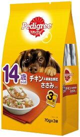マースジャパンリミテッド Mars Japan Limited ペディグリー14歳 チキン&緑黄色野菜ささみ入 70g×3袋