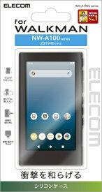 エレコム ELECOM Walkman A 2019 NW-A100シリーズ対応シリコンケース ブラック AVS-A19SCBK