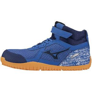 ミズノ mizuno 24.5cm メンズ 安全靴 オールマイティSD13H(ブルー×ネイビー×ブルー) F1GA1905【JSAA・普通作業用(A種)認定品 耐滑 プロテクティブスニーカー】