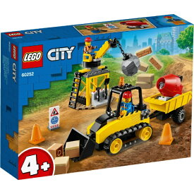 レゴジャパン LEGO 60252 シティ 工事現場のブルドーザー[レゴブロック]