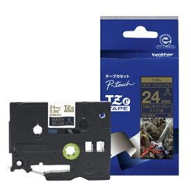 ブラザー brother 【ブラザー純正】ピータッチ リボンテープ TZe-RN54 幅24mm (金文字/ネイビーブルー) TZe TAPE ネイビーブルー TZe-RN54 [金文字 /24mm幅]