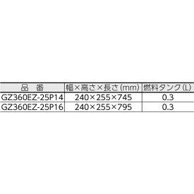 ハスクバーナゼノア Husqvarna Zenoah ゼノア エンジンチェンソー(リアハンドル) GZ360EZ-25P16
