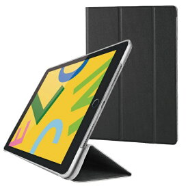 エレコム ELECOM iPad 10.2(第7/第8世代対応) フラップケース スリープ対応 TB-A19RWVBK ブラック