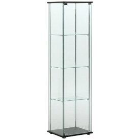不二貿易 Fuji Boeki ガラスコレクションケース 4段 ブラウン(高さ160cm)