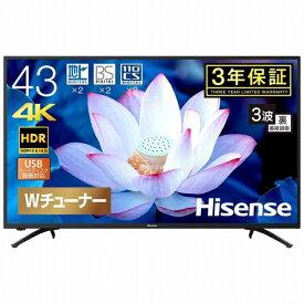 ハイセンス Hisense 43F68E 液晶テレビ [43V型 /4K対応][テレビ 43型 43インチ]