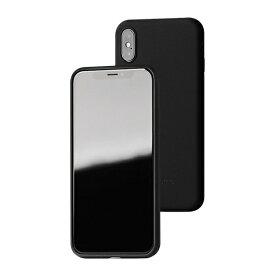 UI ユーアイ motomo Alpha Slim シリコンケース iPhoneXs/X ブラック