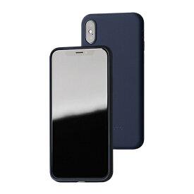 UI ユーアイ motomo Alpha Slim シリコンケース iPhoneXs/X ネイビー
