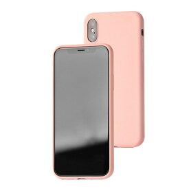 UI ユーアイ motomo Alpha Slim シリコンケース iPhoneXs/X ベビーピンク