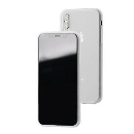UI ユーアイ motomo Alpha Slim シリコンケース iPhone XS/X クリアホワイト