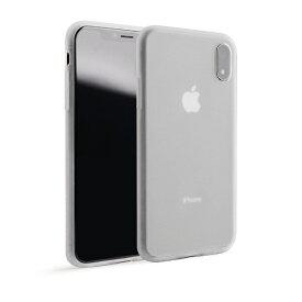 UI ユーアイ motomo Alpha Slim シリコンケース iPhone XR クリアホワイト