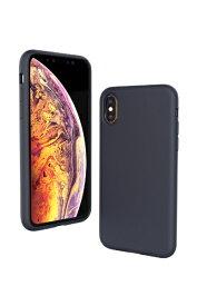UI ユーアイ motomo Alpha Slim シリコンケース iPhoneXS MAX ネイビー
