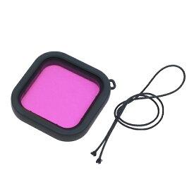 GLIDER グライダー [グライダー]GoPro HERO8 Black防水ハウジング用レンズフィルター(紫)[GLD3921MJ10][ゴープロ ヒーロー8 アクセサリー フィルター]
