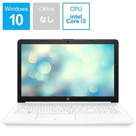 HP エイチピー 9AJ75PA-AAAA ノートパソコン 15-da2021TU ピュアホワイト [15.6型 /intel Core i3 /HDD:1TB /メモリ:8GB /2019年12月モデル][15.6インチ 新品 windows10 9AJ75PAAAAA]
