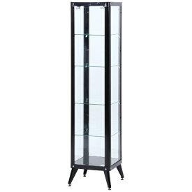 不二貿易 Fuji Boeki ガラスコレクションケース 5段 ブラック(高さ180cm)