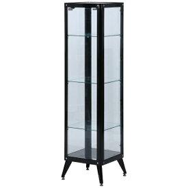 不二貿易 Fuji Boeki ガラスコレクションケース 4段 ブラック(高さ160cm)