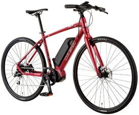 ルイガノ 【eバイク】700x35C型 電動アシストクロスバイク AVIATOR-E(LG RED/420サイズ/外装8段変速)【組立商品につき返品不可】 【代金引換配送不可】