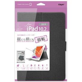ナカバヤシ Nakabayashi 10.2インチ iPad(第7世代)用 軽量回転式カバー TBC-IP1909BK ブラック