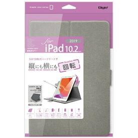 ナカバヤシ Nakabayashi 10.2インチ iPad(第7世代)用 軽量回転式カバー TBC-IP1909GY グレー