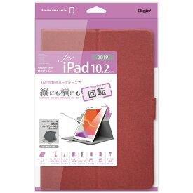 ナカバヤシ Nakabayashi 10.2インチ iPad(第7世代)用 軽量回転式カバー TBC-IP1909R レッド