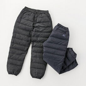 ミズノ mizuno メンズ パンツ ブレスサーモ ダウンパンツ(Mサイズ/ブラック杢) C2JF9501