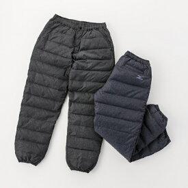 ミズノ mizuno メンズ パンツ ブレスサーモ ダウンパンツ(XLサイズ/ブラック杢) C2JF9501