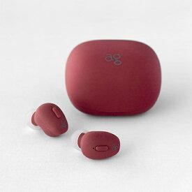 ag エージー フルワイヤレスイヤホン RED AG-TWS03RRE [リモコン・マイク対応 /ワイヤレス(左右分離) /Bluetooth][ワイヤレスイヤホン][AGTWS03RRE]