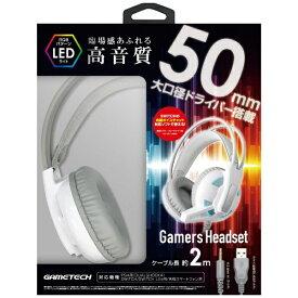 ゲームテック GAMETECH ゲーマーズヘッドセット ホワイト YF2174【PS4/Switch】