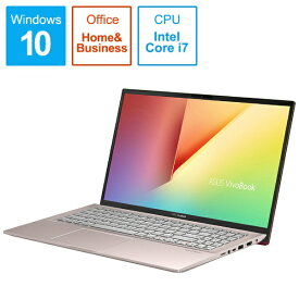 ASUS エイスース S531FA-BQ231TS Office搭載ノートパソコン VivoBook S15 パンクピンク [15.6型 /intel Core i7 /HDD:1TB /SSD:512GB /メモリ:16GB /2019年12月モデル][15.6インチ office付き 新品 windows10]